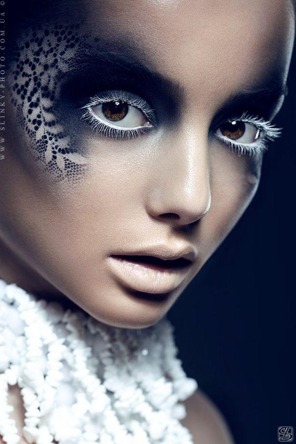 fantasy lace by Slinky-Aleksandr Lishchinskiy #bodyart #bodypaint