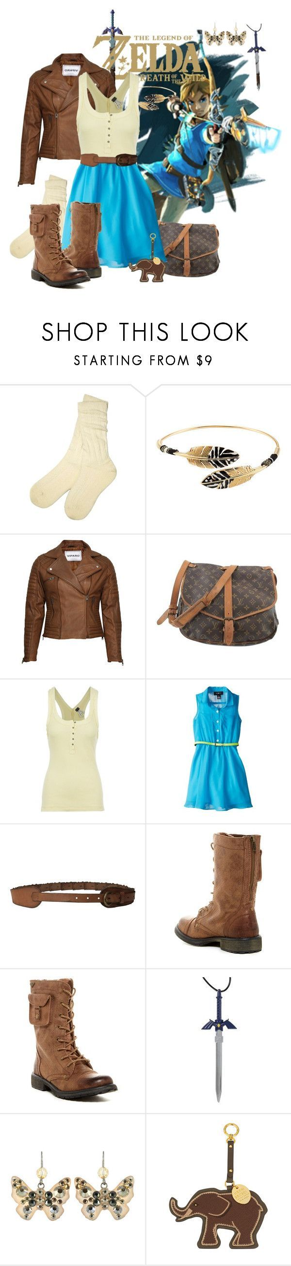 """""""Legend of Zelda Breath of the Wild - Link"""" by marielw97 ❤ liked on Polyvore featuring UGG, Gas Bijoux, VIPARO, Louis Vuitton, Free People, Amy Byer, Bed