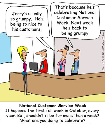 What is meant by customer service?