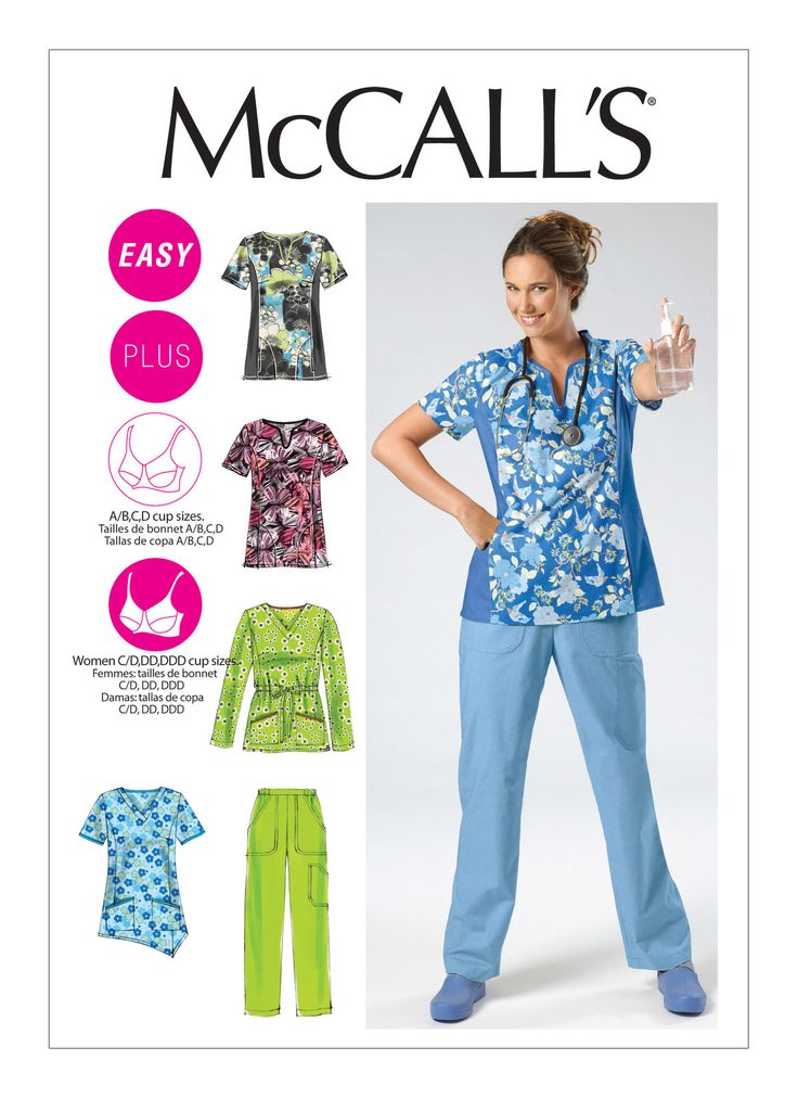 Top Sewing Patterns for Scrubs. (Keep clicking) Print out for reference.  Misses'/Women's ...