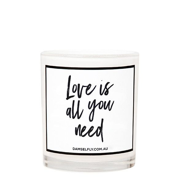 Love Is All You Need - LRG Candle from DAMSELFLY