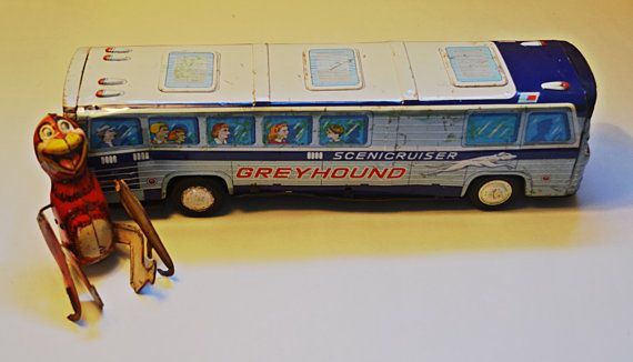 Tin Toys Tin Bus Scenic Cruiser Tin Litho Japan Toy Tin