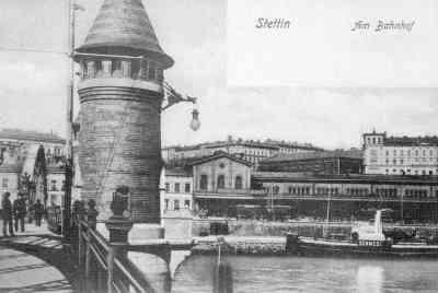 #Szczecin, #Railway_Station, early 1900s