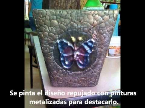 Jarrones de carton reciclado yourepeat tutoriales en - Manualidades en carton ...