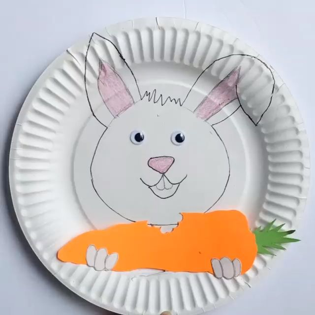 Interactive Paper Plate Bunny Easter Craft