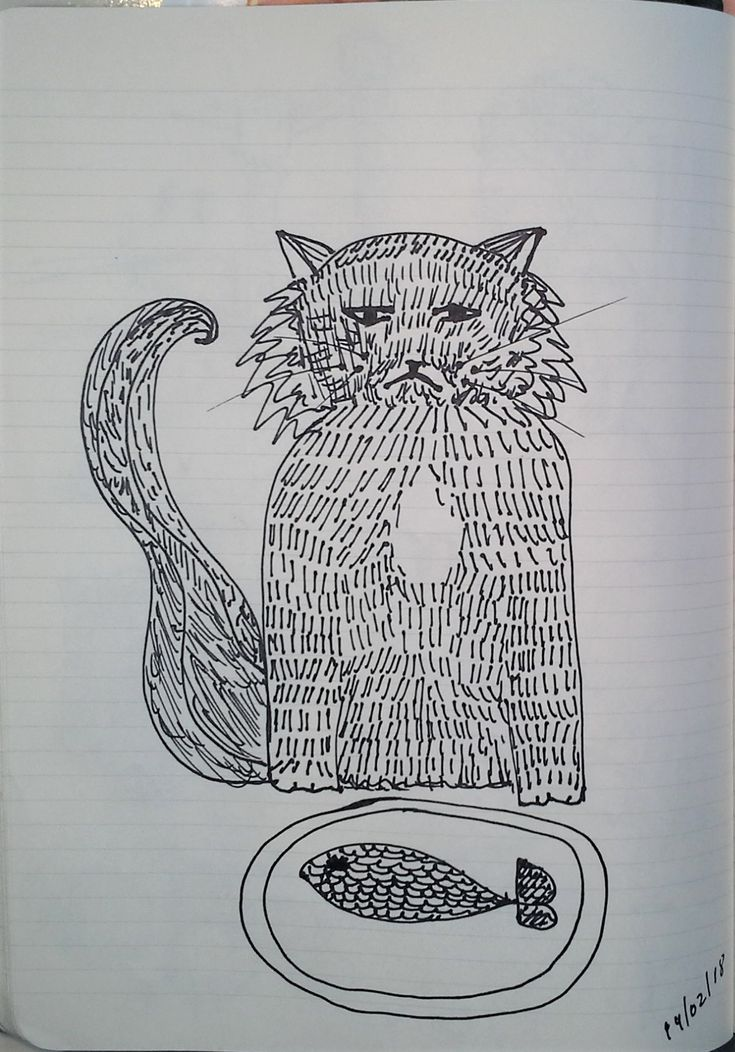 Cat - Daily sketchbook Cindy M. Bell