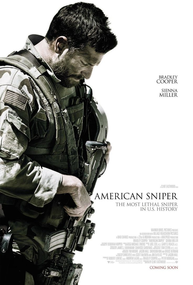 AMERICAN SNIPER - I don't know what I feel about the movie itself - but I like the minimalistic way they made the posters.