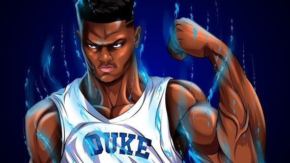 Zion Williamson Duke Poster, Canvas or Banner Canvas