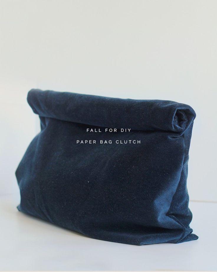 Fall For DIY tutorial Paper Bag Clutch purse