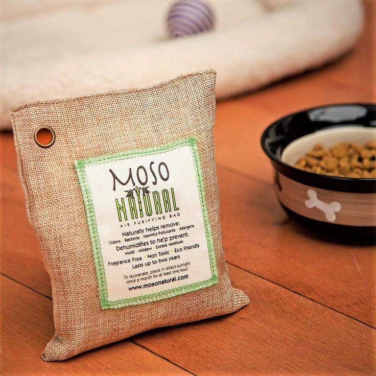 MOSO NATURAL Air Purifying Bag 5 Pack. Bamboo Charcoal Air