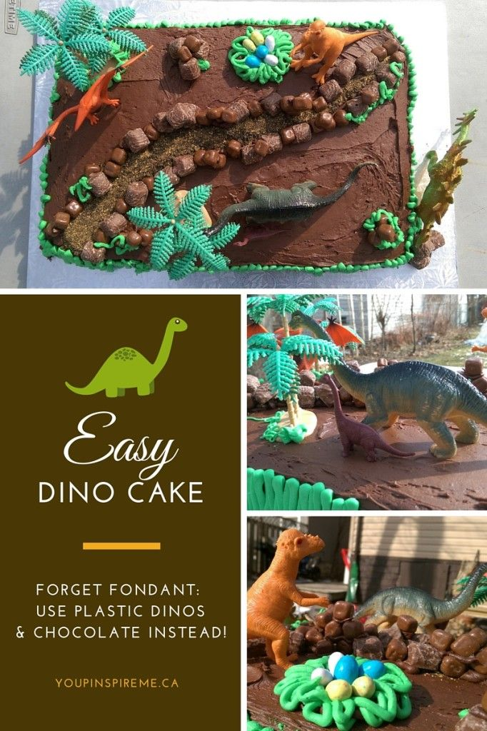 Easy Dinosaur Cake for a Kid's Birthday Party