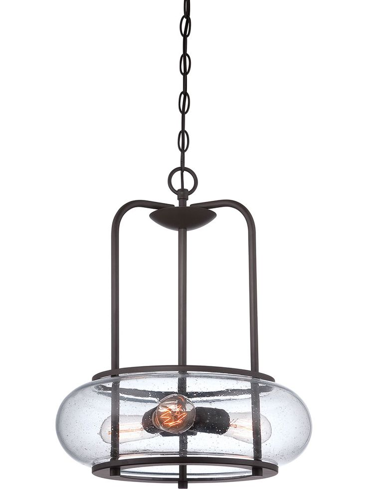 quoizel trilogy 3 light wide pendant with seedy clear glass old bronze indoor lighting pendants pendants