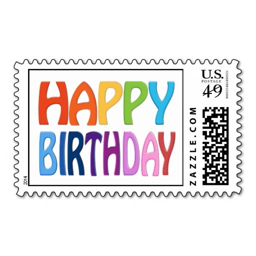17 best images about birthday postage stamps on pinterest for Post office design your own stamps