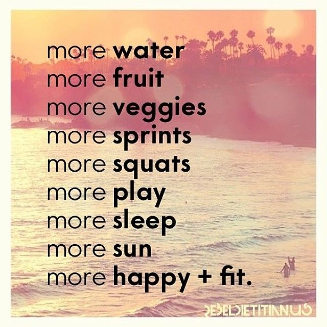 More happy and fit quotes quote fruit water happy fit ...