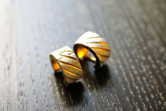 Modern Mens Gold Hoop Earrings - Male Earrings, Guys Earrings, Earrings for Men, Mens Hoop Earrings, Gold Earrings For Men, Cool Earrings