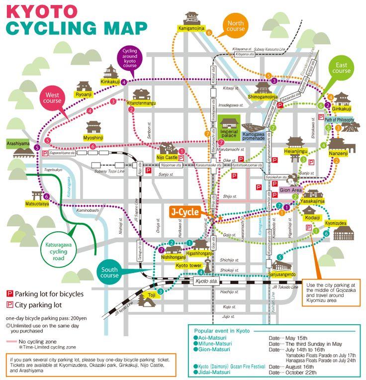 ☆ kawaii kyoto map : cycling