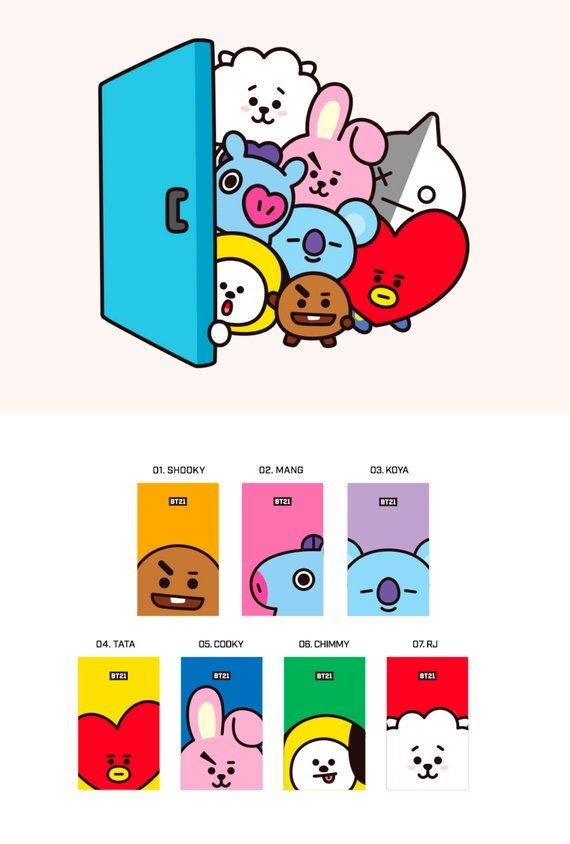 Bt21 Christmas 2020 BT21 WEEKLY PLANNER Monthly Planner Yearly Planner | Etsy | Weekly