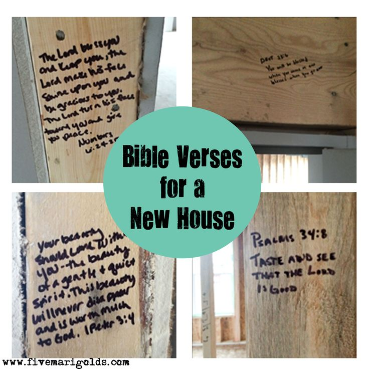 Strong Foundations; Bible Verses for each room of a New House