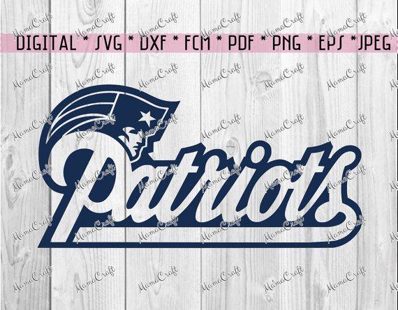 SVG PATRIOTS New ENGLAND script logo digital by MamaCraft4You