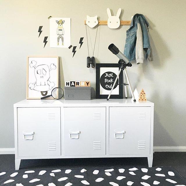 • New addition to Harry's room! #locker#kmartstyling#kidsrooms#boysroom#storage#monochrome#kmartkidz#styling#mystyle#lovemyfindsau#kidsroom#inspo#kmartredbank#kmartlovers#white#boysrooms#print#ideas