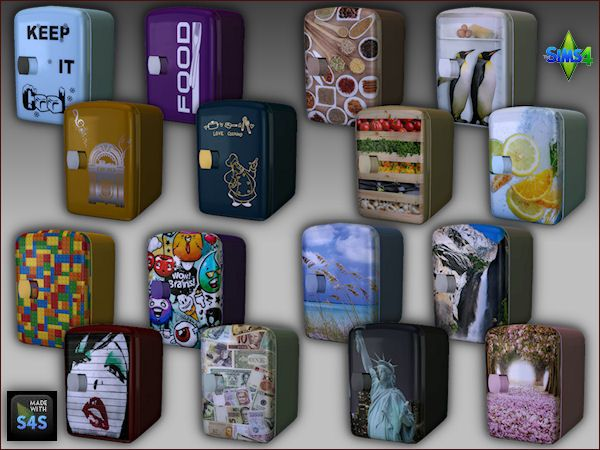 Sims 4 CC's - The Best: Mini fridge recolors by Mabra