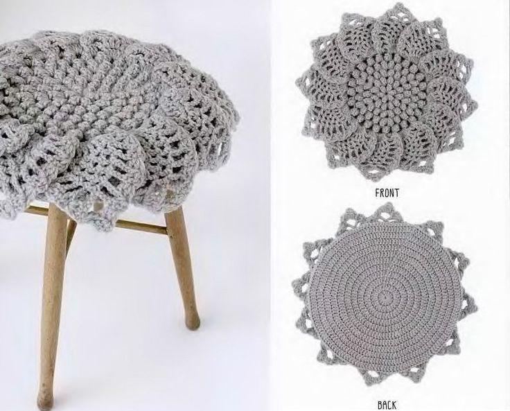 Декоративный коврики или сидушки. Схема вязания крючком
