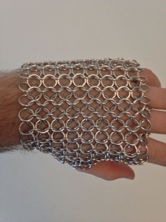 Nickel Free Bright Aluminum Fingerless Chainmail Metal Glove - Unisex Silver Steel Armor Larp Roleplaying Punk Post Apocalyptic Viking by JohnsChainmailShop from John's Chainmail Shop. Find it now at http://ift.tt/2dVlA9t!