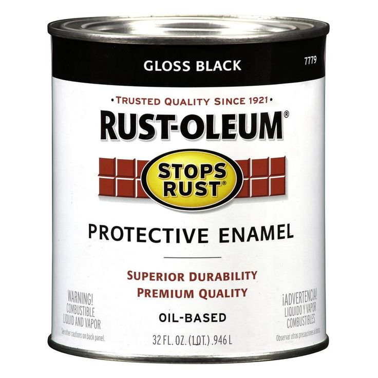 Rust-Oleum Stops Rust 32 oz. Black Gloss Protective Enamel Paint-7779504 - The Home Depot