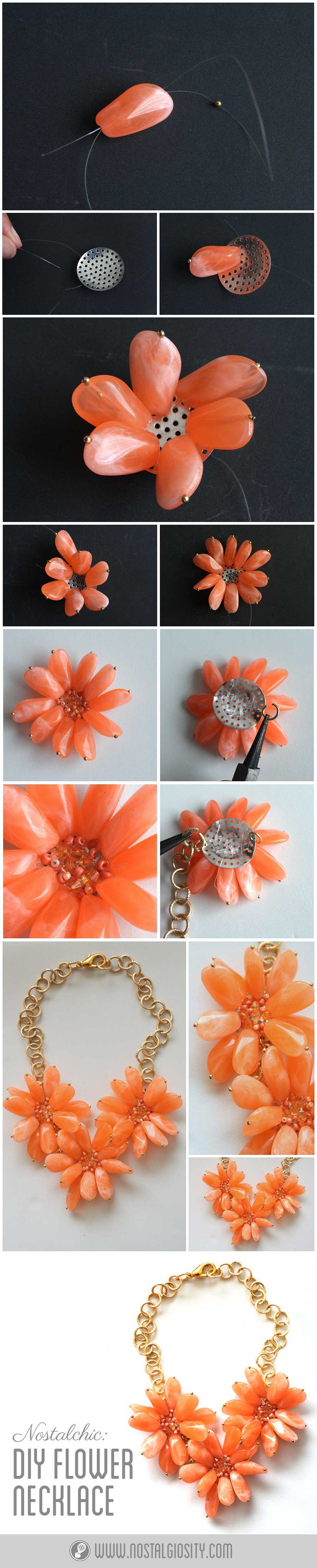 DIY Flower Statement Necklace
