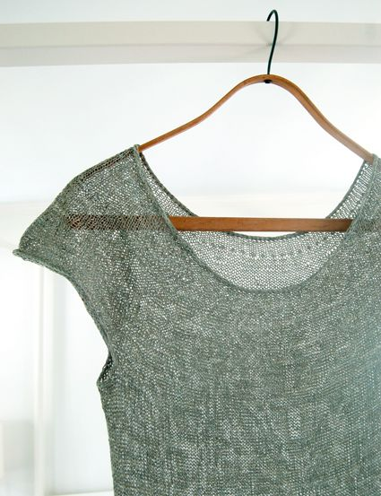 Whit's Knits: Silken Straw Summer Sweater - The Purl Bee - Knitting Crochet Sewing Embroidery Crafts Patterns and Ideas!