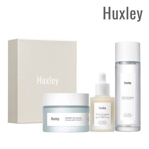 Huxley Secret of Sahara Antioxidant Routine Skincare Set (Toner / Serum / Cream) #huxley#SAHARA PRICKLY PEAR SEED OIL