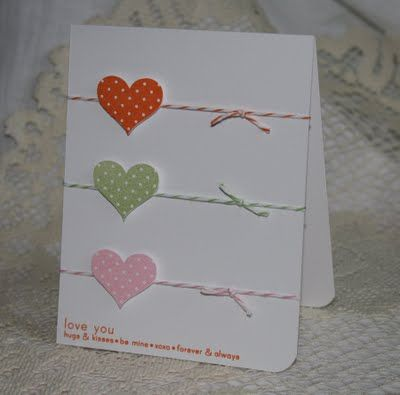 Stamp Punch Twine Heart