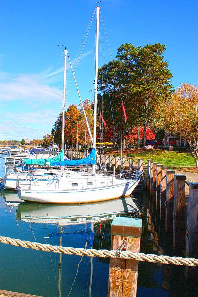 Lake Norman Harbor in early fall.