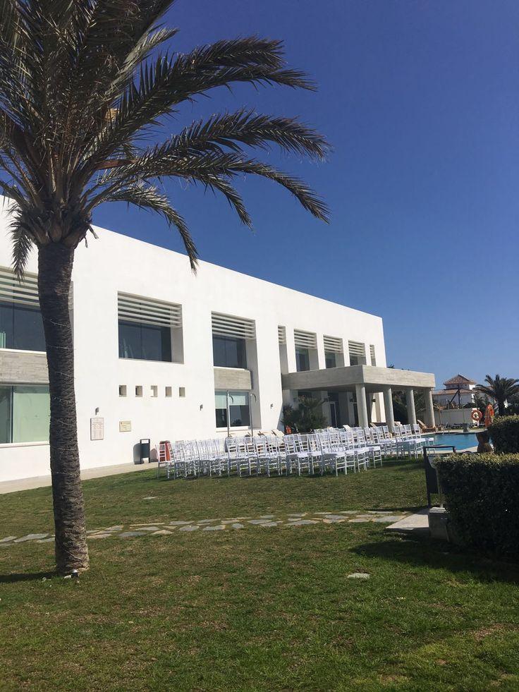 Estrella Del Mar Beach Club Marbella Wedding Blessing Set Up