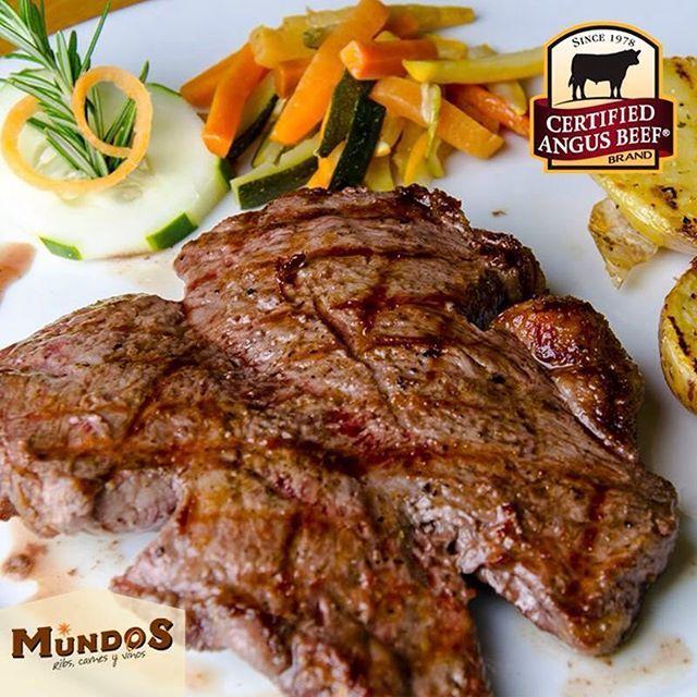 Estamos orgullosos de nuestra carne #CertifiedAngusBeef jugosa y de extraordinario sabor. La mejor carne del mundo. Visítanos en Llanogrande o reserva en el 5371835 o www.mundos.com.co