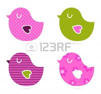 Retro patroon vogels. Vector Illustratie Stockfoto - 12839212