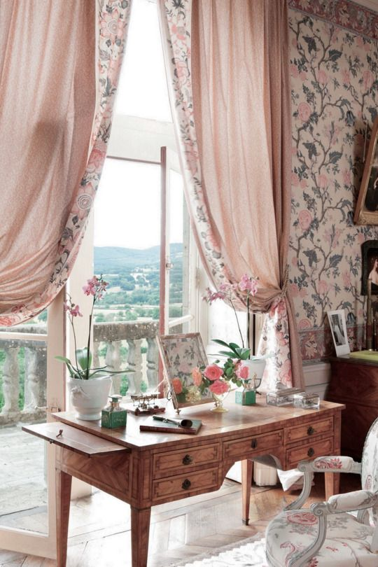 French Style Window Treatments Part - 24: An 18th-century Desk - French Château