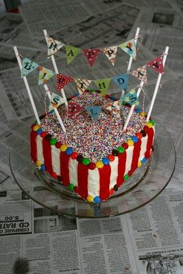 Carnival Party - Fruit roll ups or m dots?,gum-balls, sprinkles, lollipops, striped straws with name banner, colored layers-See Bottom of page