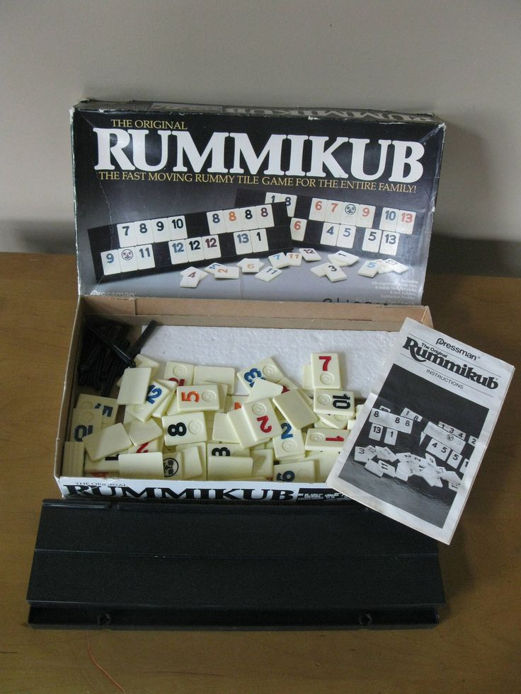 Original 1980 RUMMIKUB tile game -COMPLETE -with instructions -rummy tile game for the entire family -made by Pressman -retro 1980s games - by oakiesclaptrap on Etsy