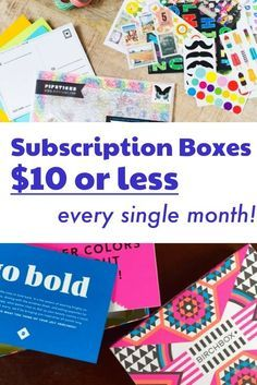 22 Subscription Boxes That Are Always $10 or Less! - http://hellosubscription.com/2016/01/cheap-subscription-boxes/