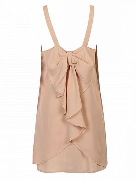 Shop Beige Bow Embellished Back Two-layer Spaghetti Strap Dress from choies.com .Free shipping Worldwide.$10.9