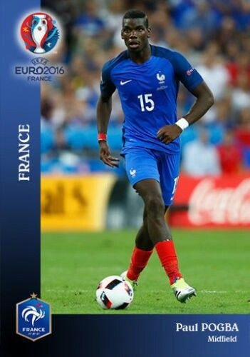 Paul Pogba of France. Euro 2016.