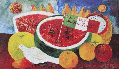 Frida Kahlo, Still Life: Viva la vida y el Dr. Juan Farill, 1953-54