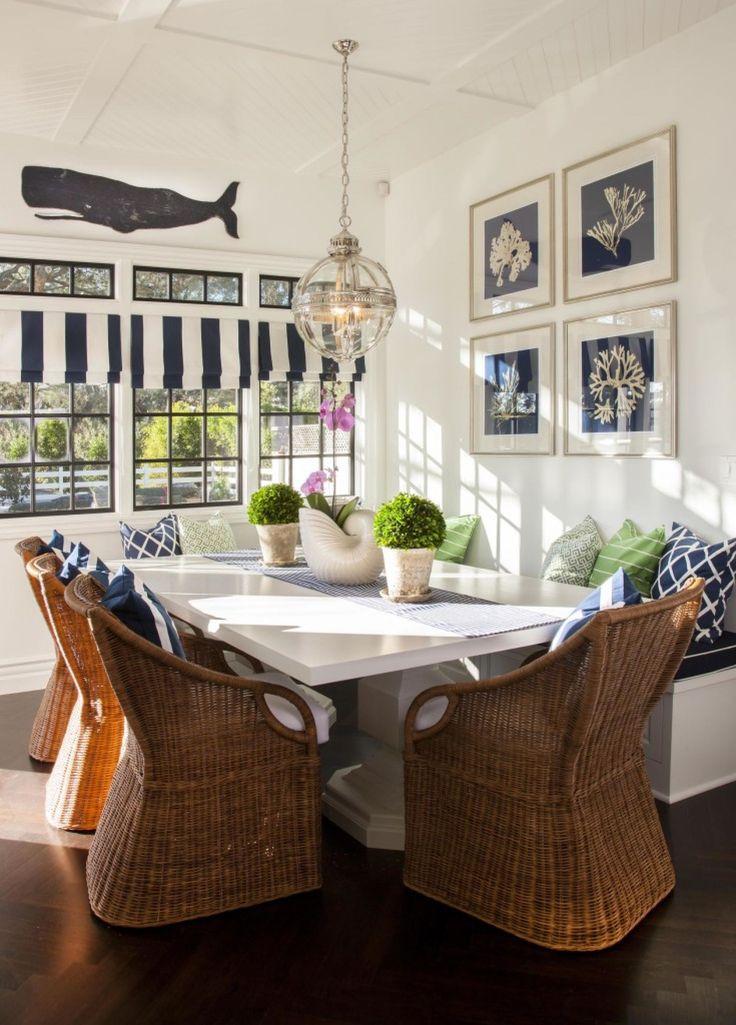 Nautical Inspired Beach House Dining