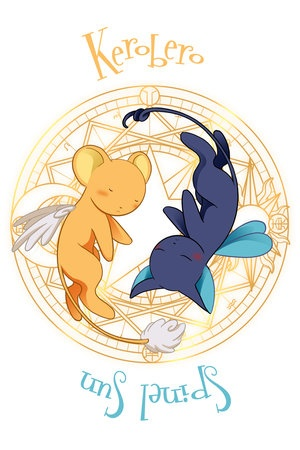 Card Captor Sakura love. Kerobero & Spinel Sun.