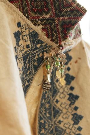 19th century Norwegian textile. [Magasinet Bunad : Opp fra ei skattekiste i Bø]