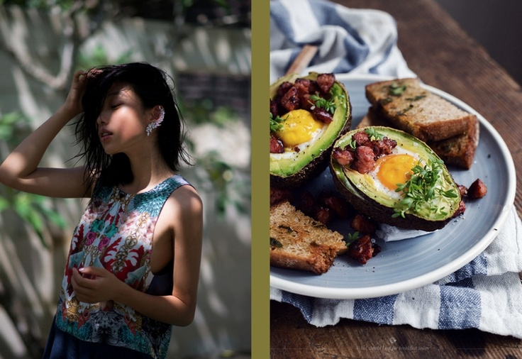Margaret Zhang at Shine By Three and Avocado Baked with an Egg at What Should I Eat For Breakfast Today