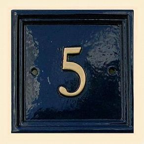 Square house number 5inch £32.50 - Plaques & House Signs - House Numbers & Signs Antique Period Door Hardware, Victorian reclaimed & reproduction Knobs, Knockers, Letterboxes, Rim Locks, Bell Pulls, Glass Knobs – The Period Ironmonger