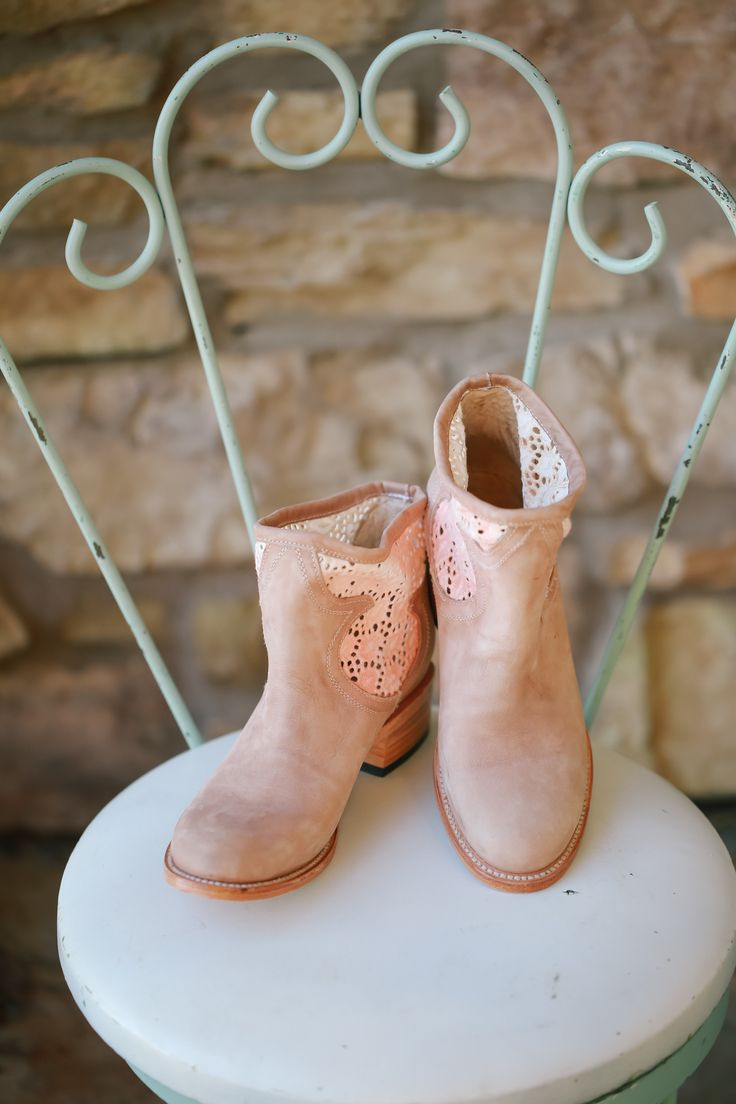 Bride's Boots || Cute Rustic Glam Wedding on Style Me Pretty -- http://www.StyleMePretty.com/2014/02/11/winchester-country-club-wedding/  Kori & Jared Photography