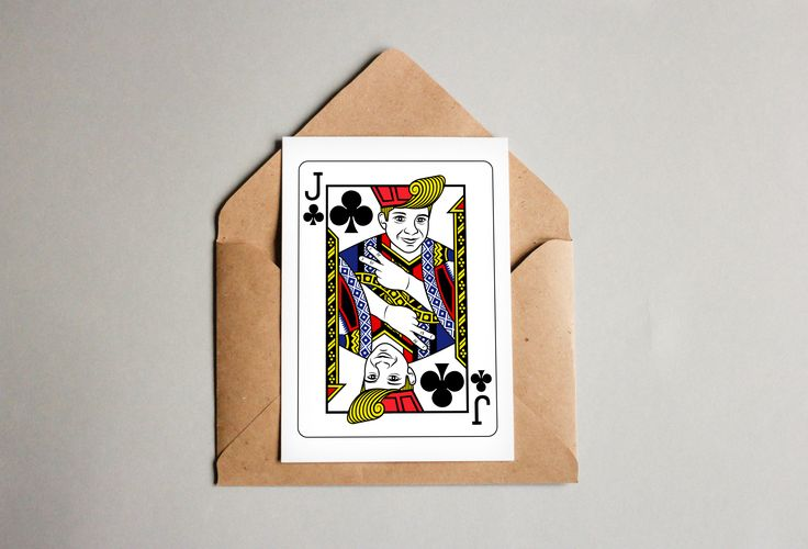 Jay of Clubs - Personalised playing card - postcard mockup